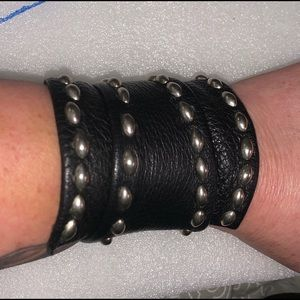 Artisan made leather wrap bracelet